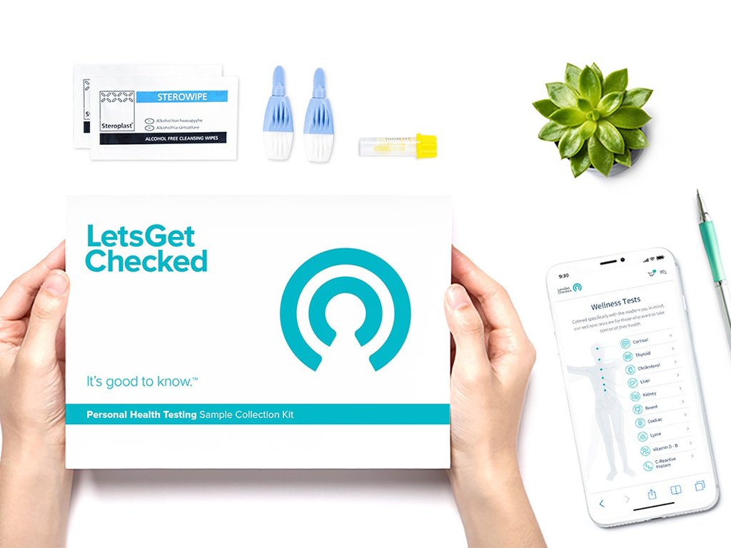 LetsGetChecked example box, app and test